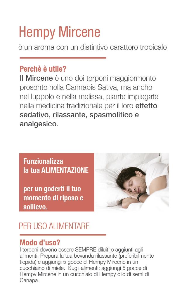 Myrcene analgesico rimedio per dormire insonnia SPASMOLITICO rilassante sedativo